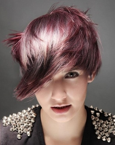 Fabulous Purple Hair Highlights 2014