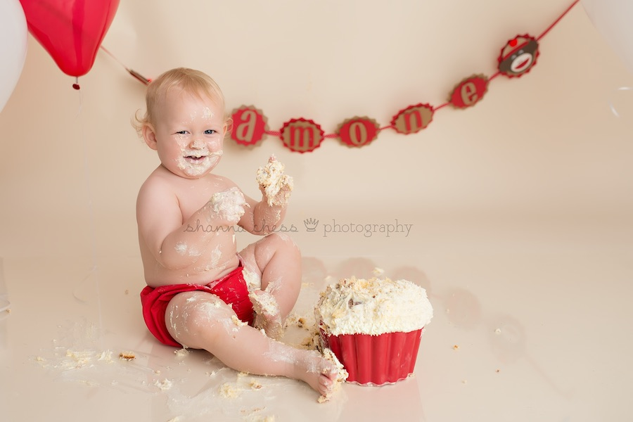 eugene springfield oregon baby photography cake smash