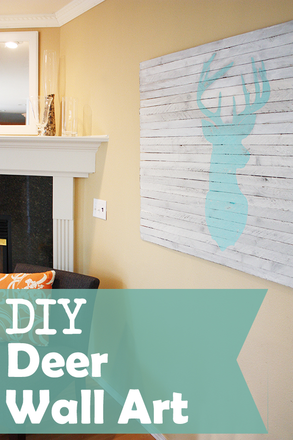 Wall Art Of Deer : Diy deer wall art sew much ado