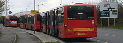 207 bus stand at Hayes By-Pass