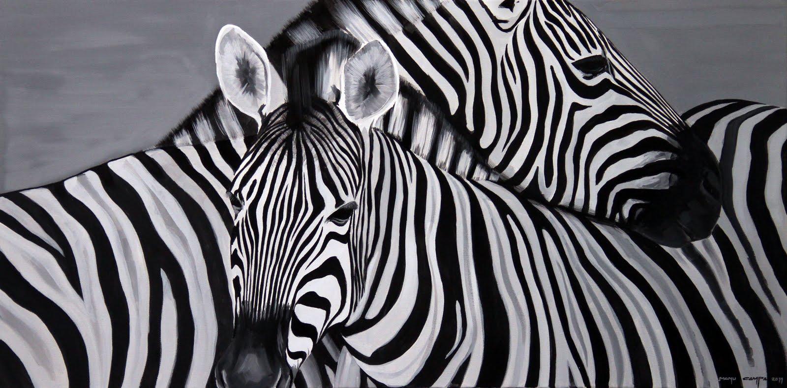 Retrato de cebras cebras pinterest - Cuadros de cebras ...