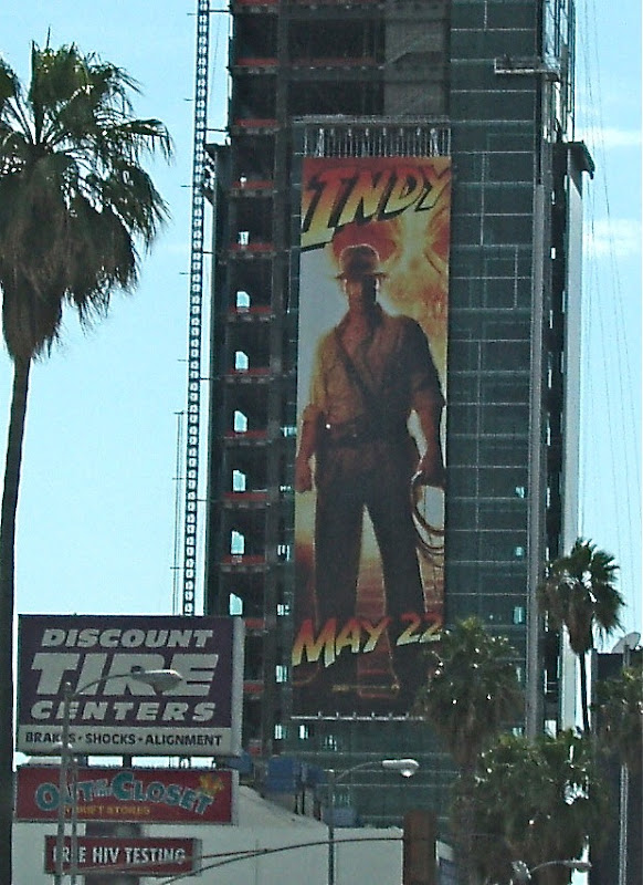 Giant Indiana Jones Kingdom of the Crystal Skull billboard