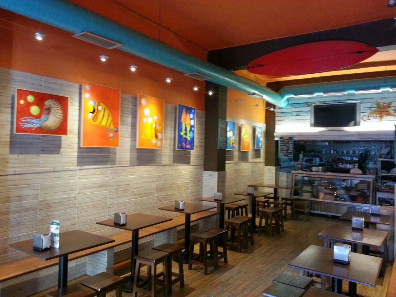 Café Central in de hoofdstad Las Palmas op Gran Canaria
