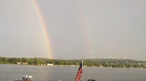 Rainbow on Chautauqua Lake