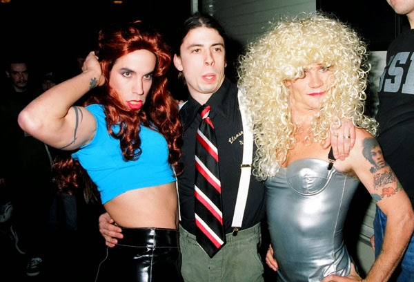 Anthony Kiedis Flea Dave Grohl Red Hot Chili Peppers Nirvana