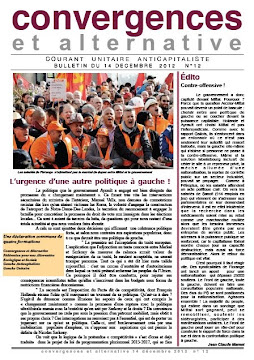 Bulletin Convergences et alternative n°12 - décembre 2012