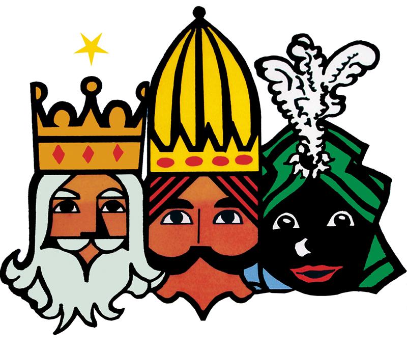 dibujo tres reyes magos: