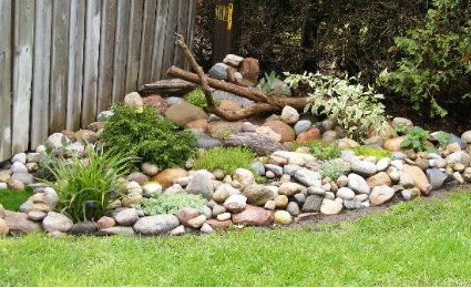 how to create a rock garden in home compound. Black Bedroom Furniture Sets. Home Design Ideas