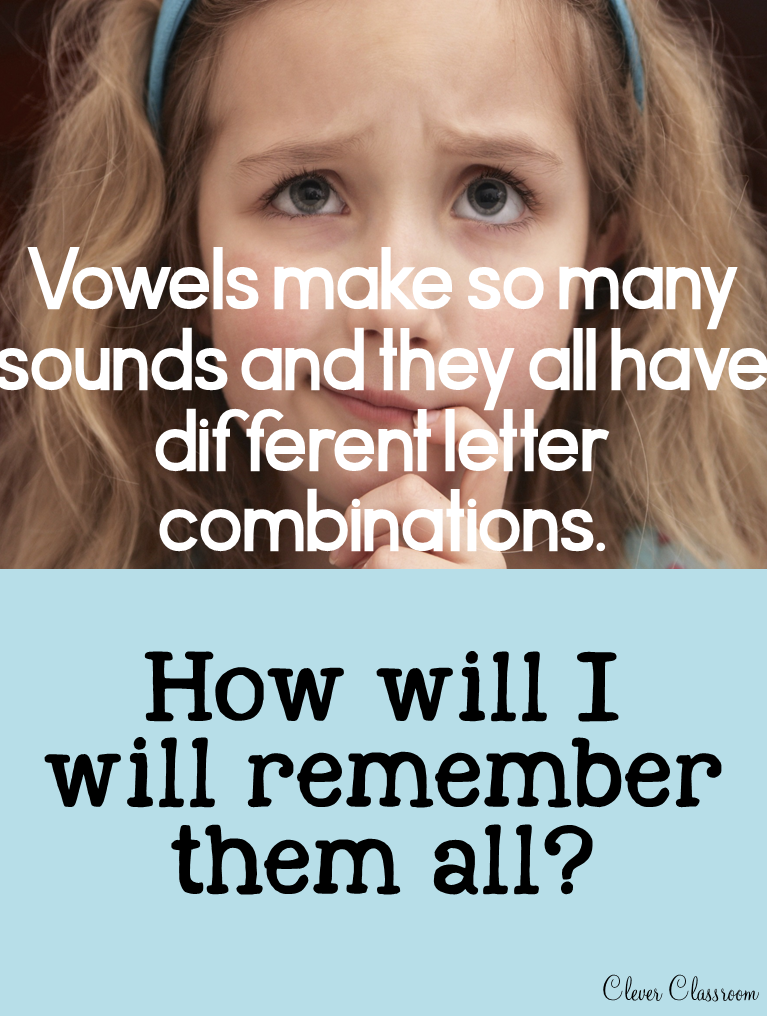 Matching letter combinations and vowel sounds to help with both reading and writing skills
