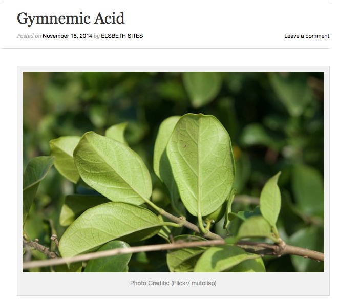 http://scienceandfooducla.wordpress.com/2014/11/18/gymnemic-acid/