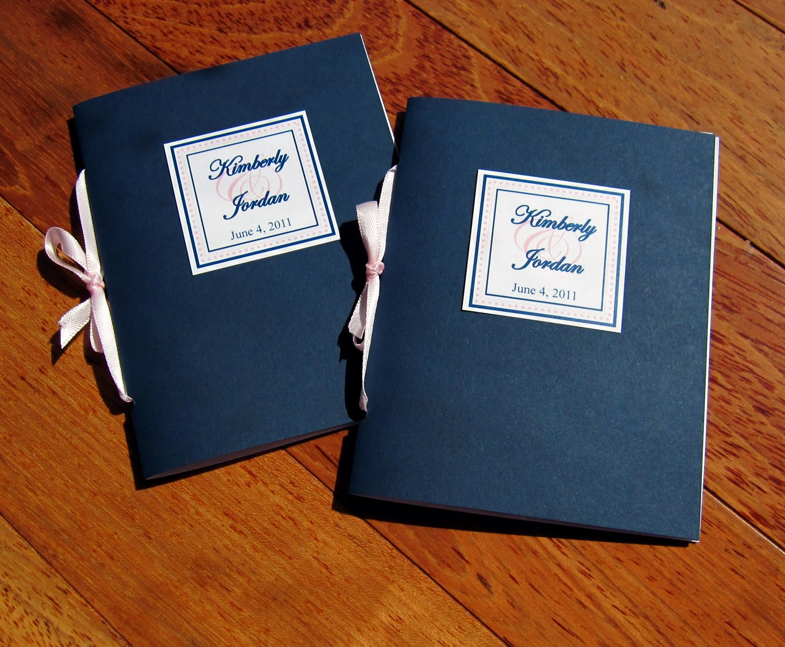 scrapping innovations kim and jordan s wedding program booklets and