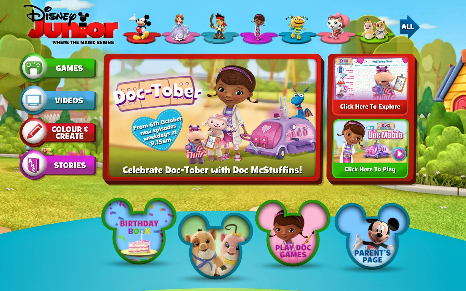 Learn with Play at Home Doctober on Disney Junior Promoting