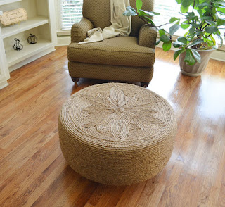 Tire And Yarn Ottoman