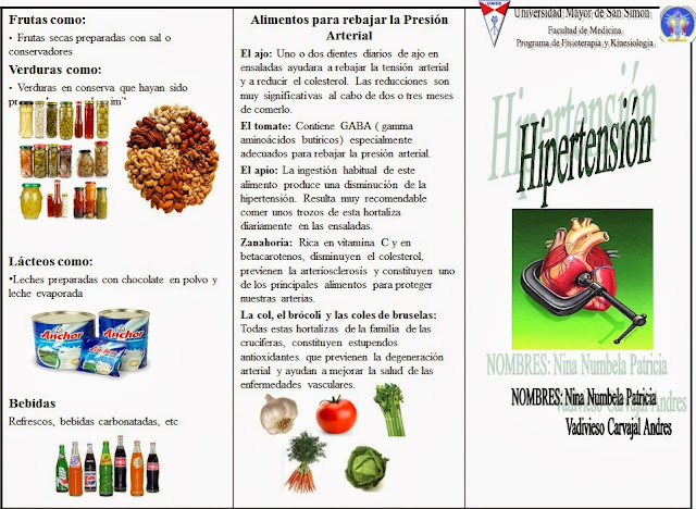 Hipertension: Hipertension triptico español