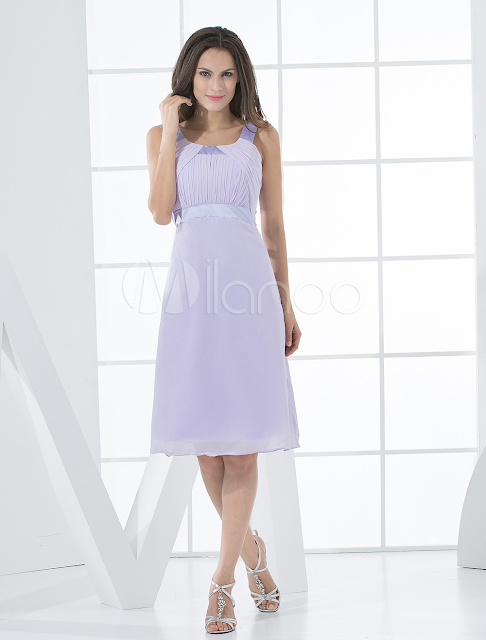 China Wholesale Clothes - Elegant Sleeveless Empire Waist Satin Chiffon Summer Cocktail Dress
