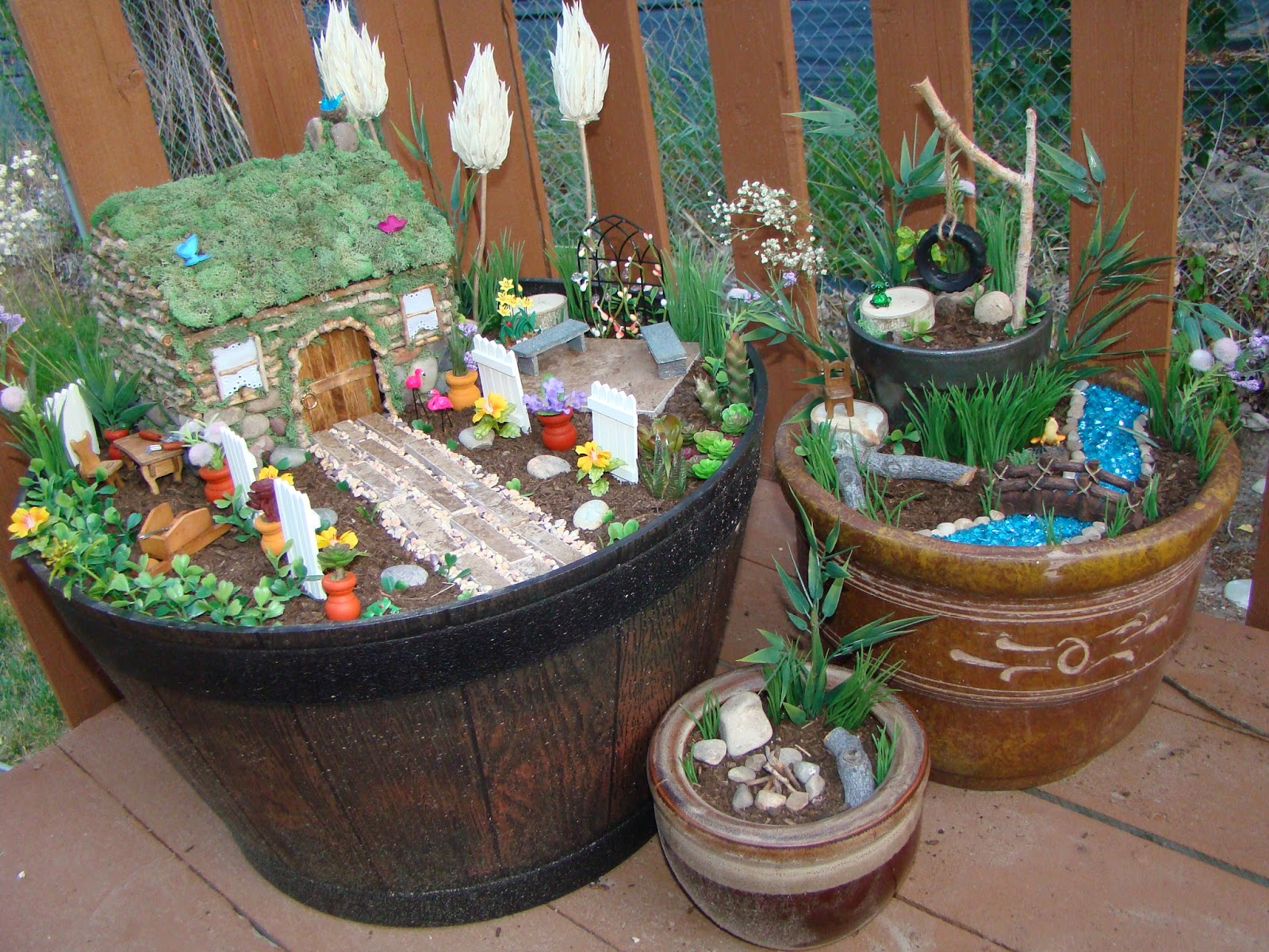what have i done now how to make a fairy garden. Black Bedroom Furniture Sets. Home Design Ideas