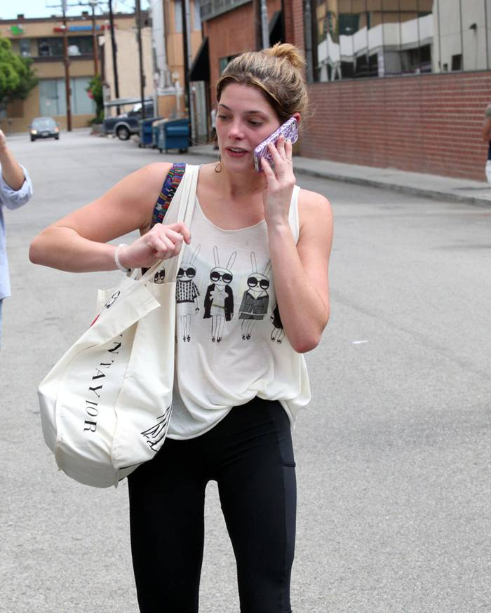 Ashley Greene Leaving a Gym in LA