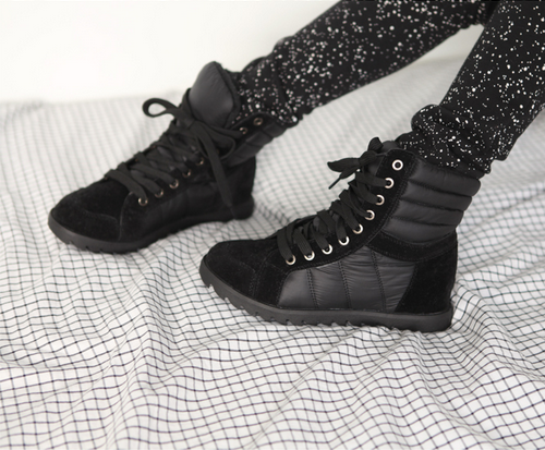 Quilt Point High Top Sneakers