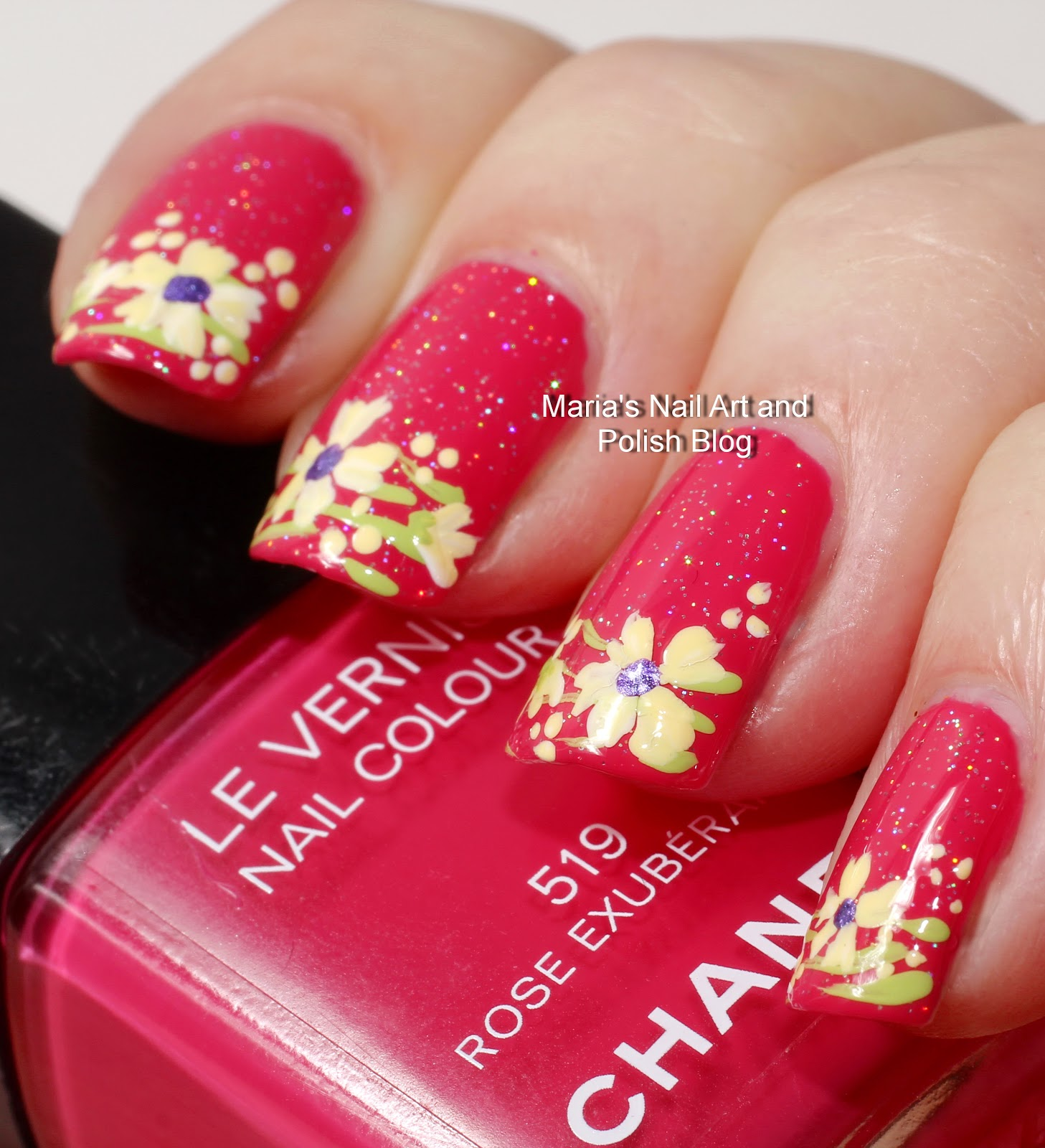 Marias Nail Art And Polish Blog Subtle Floral Nail Art On: Marias Nail Art And Polish Blog: Exuberant Floral French