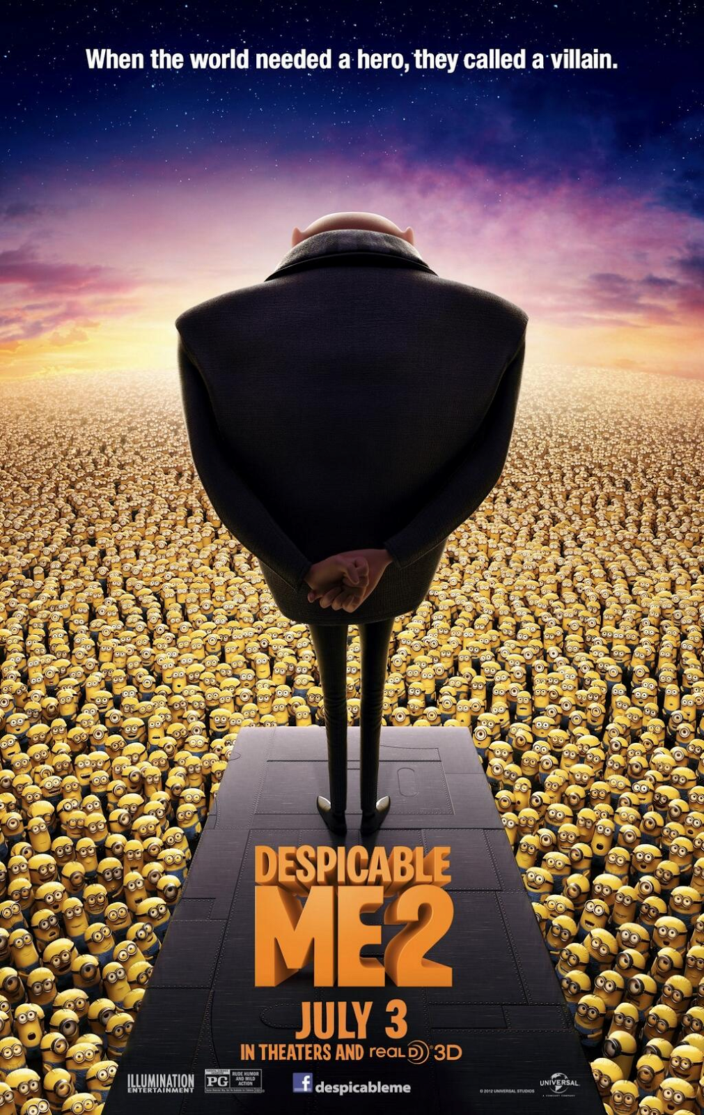 A113Animation: New Despicable Me 2 Poster Shows a Sea of Minions Despicable Me 2 Minions Poster