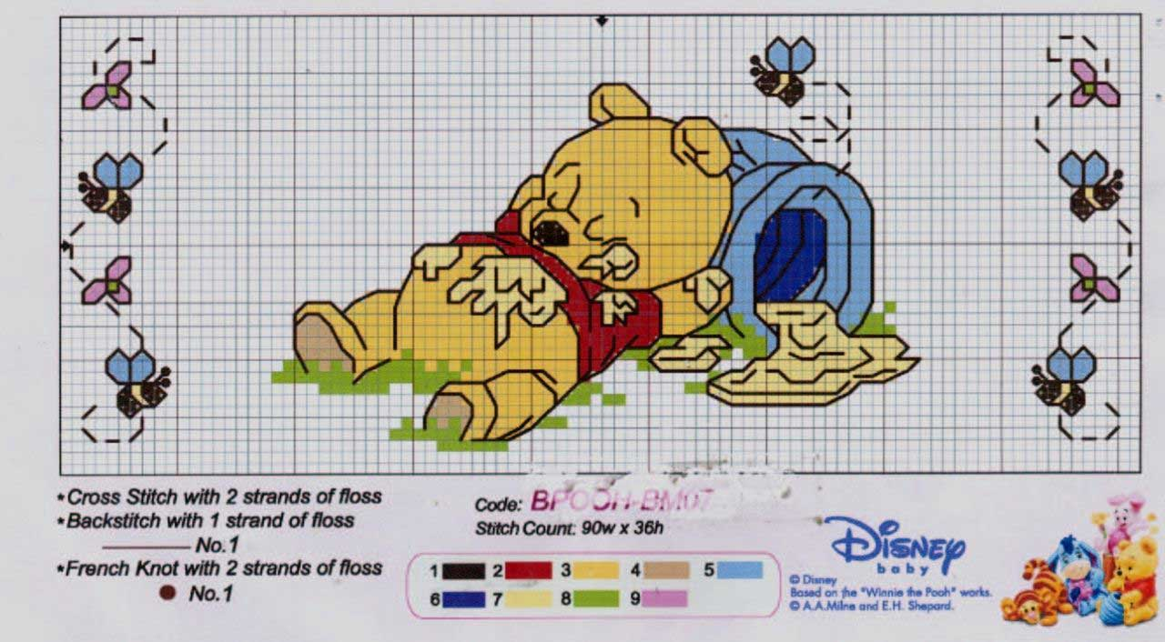 Paomamma il mio amico winnie the pooh cross stitch for Punto croce disney winnie the pooh