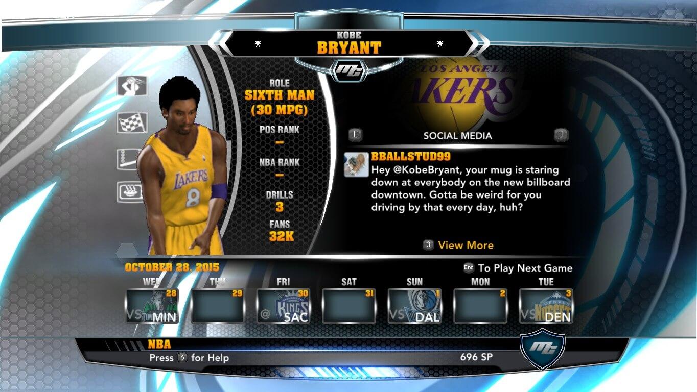 NBA 2k14 MyCareer Mod : Kobe Bryant - Young - hoopsvilla