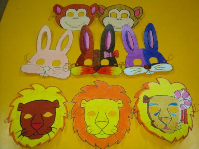 Macam inilah lebih kurang topeng kertas Kepala Singa yang kami cipta ...