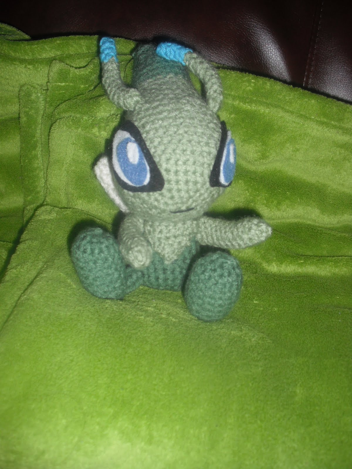 Crochet Patterns Pokemon : 2000 Free Amigurumi Patterns: Free Celebi PokEmon Crochet Pattern