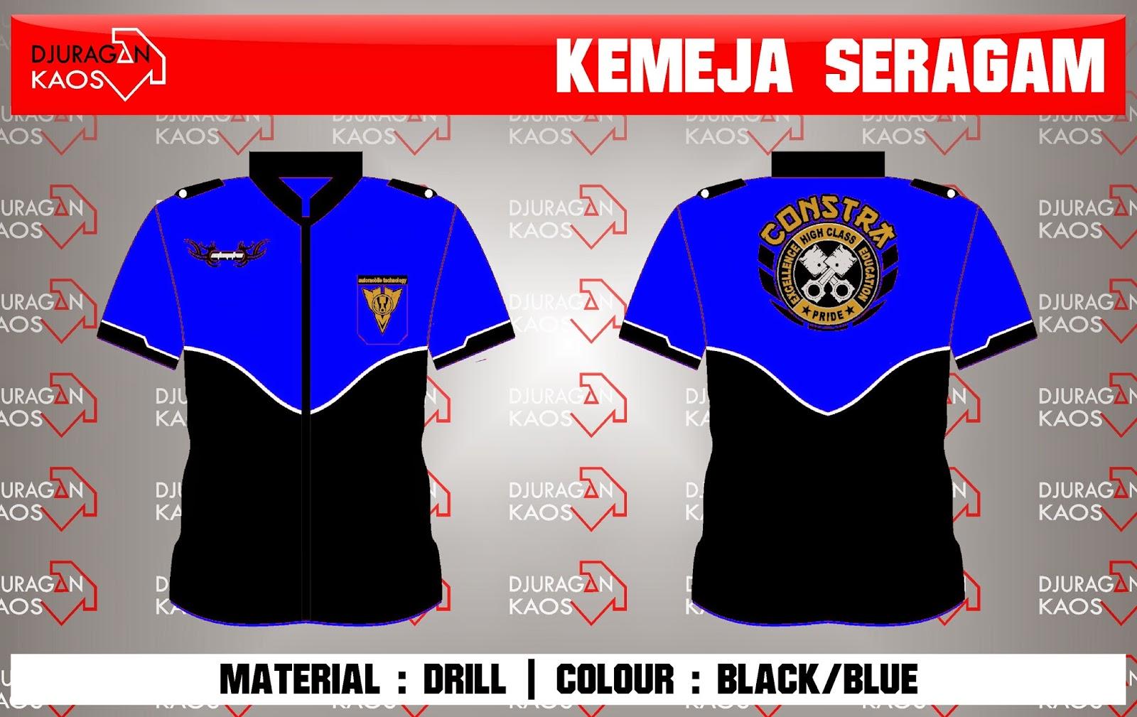 Accecories Design Order By Smk Islam Al Himah Mayong Jepara Type Kemeja Seragam Material Drill Colour Black Blue Quantity Pcs Diposting Djuragan Kaos