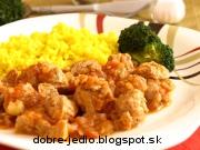 Guláš zo sójového mäsa - recept