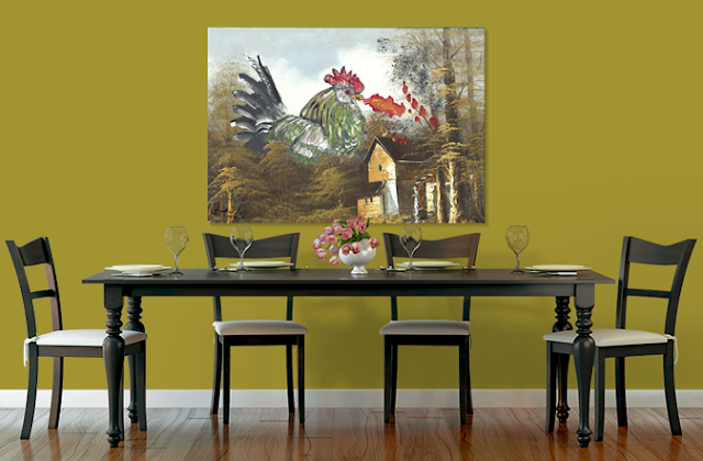 fire breathing chicken 2015 shoshanah marohn dining room