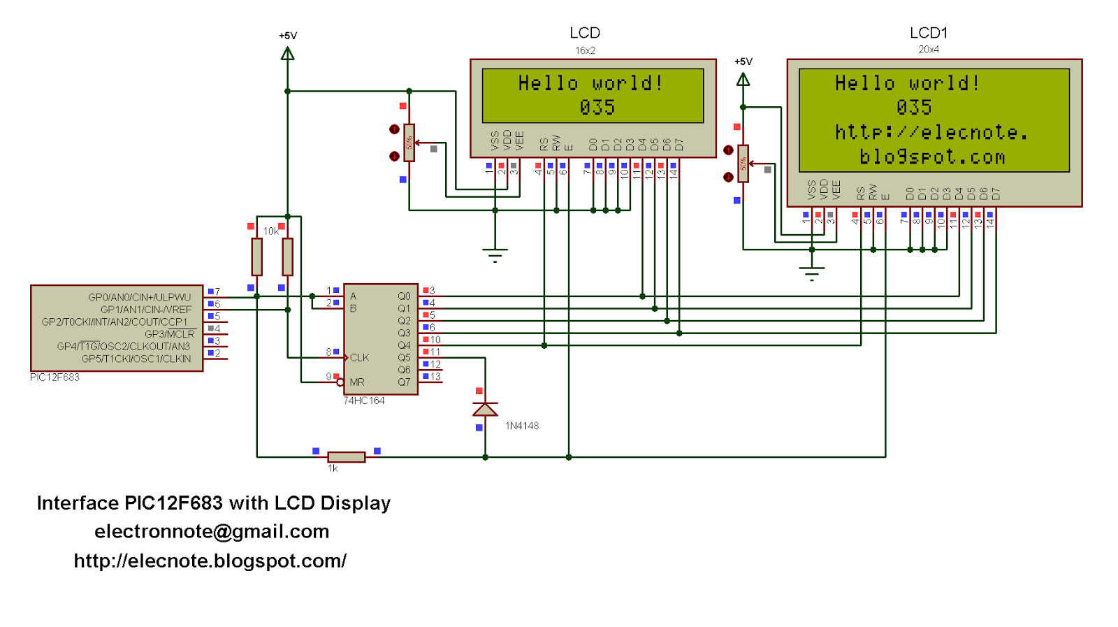 Lcd Wire Diagram Tft Monitor Reversing Camera Wiring For Serial Automotive Diagrams Pic12f683 Display