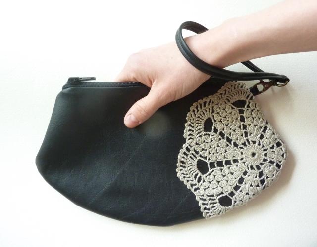 Nahka Käsilaukku : Annukan aurinkoiset nahka pitsiliina siistimpi k?silaukku