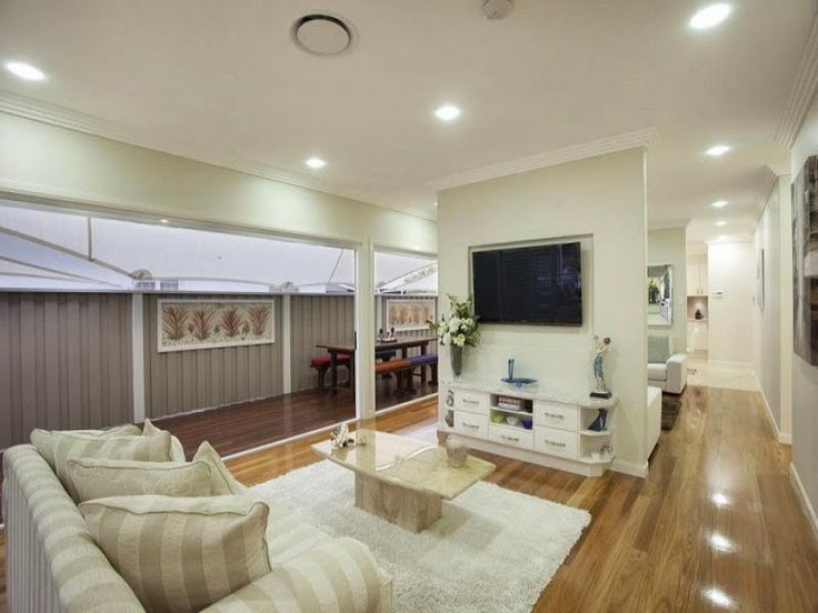 Hidden magnolias queenslanders for Queenslander living room ideas