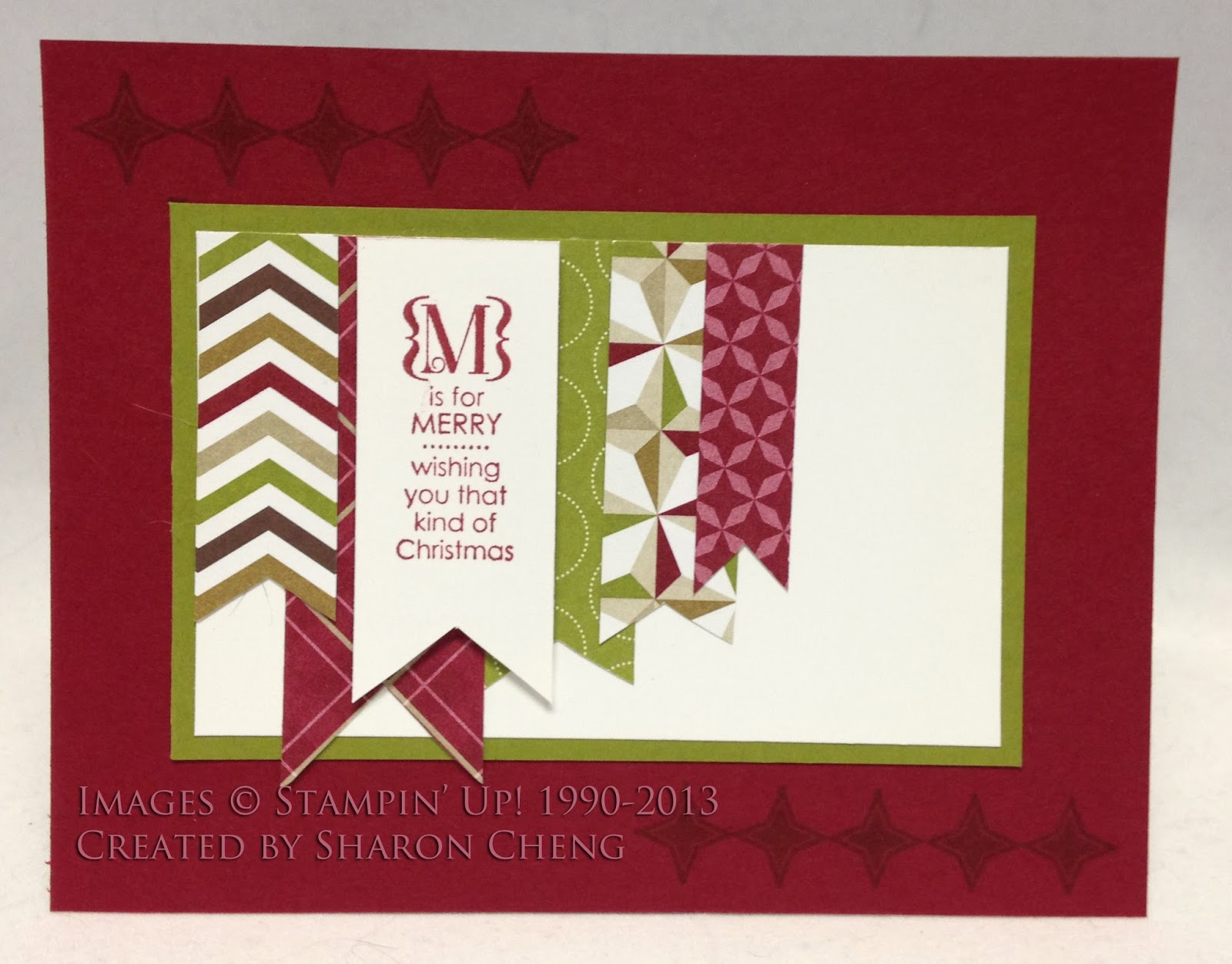 Sharing creativity and company top 13 cards from 2013 i remember putting these banner christmas cards together on the flight to salt lake city for stampin ups convention kristyandbryce Image collections