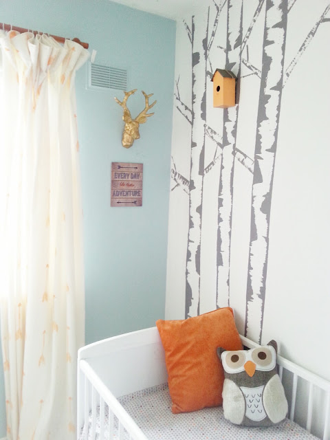 diy paint stamped arrow curtains