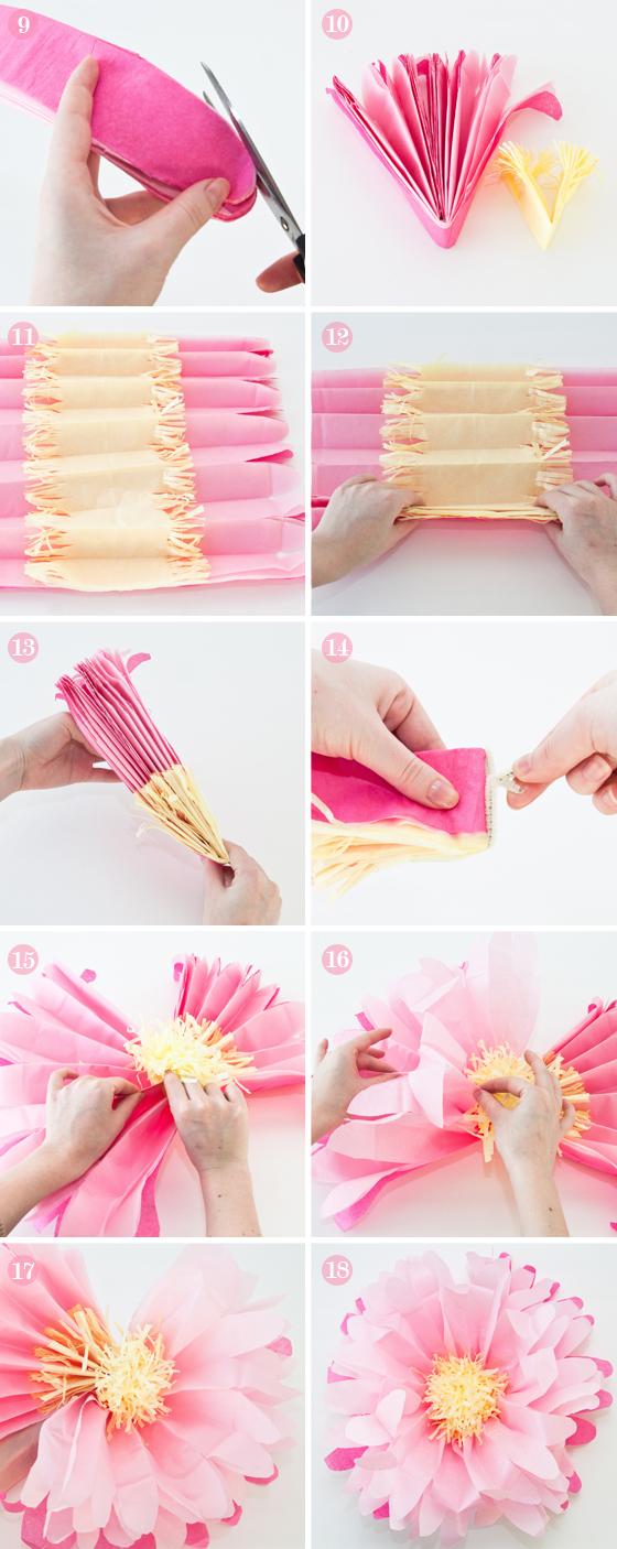 Pom-pom λουλούδι tutorial