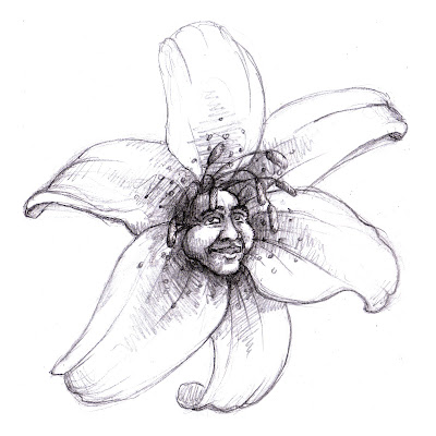 Flower Drawings with Faces