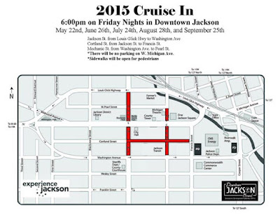 Summer 2015 Downtown Jackson Cruise In's