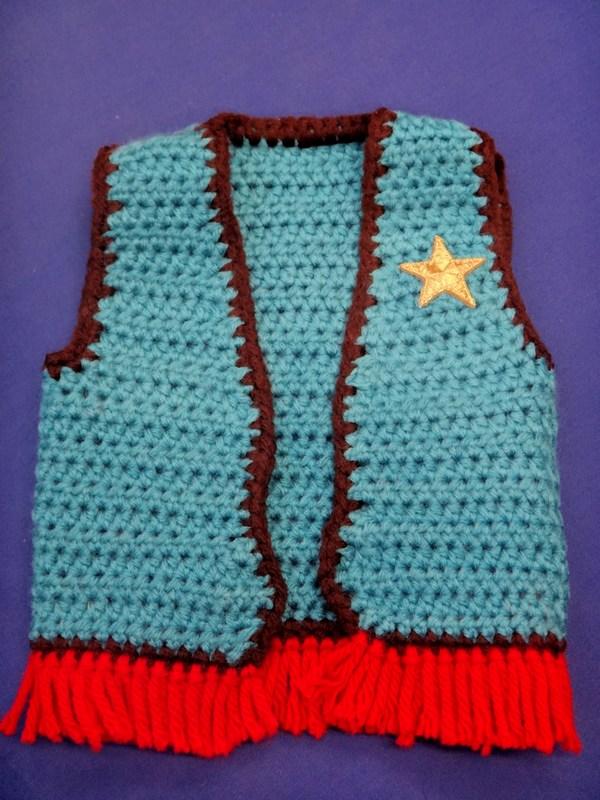 Free Crochet Pattern Cowboy Vest : Grandma Swills Handcrafted Knits: