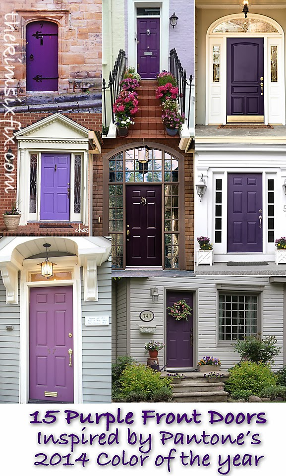 Color Trend 2014: Radiant Orchid (15 Beautiful Exterior Doors ...