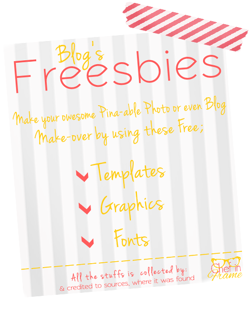 Freebies that help you get design your own blogging stuffs | Chef in Frame