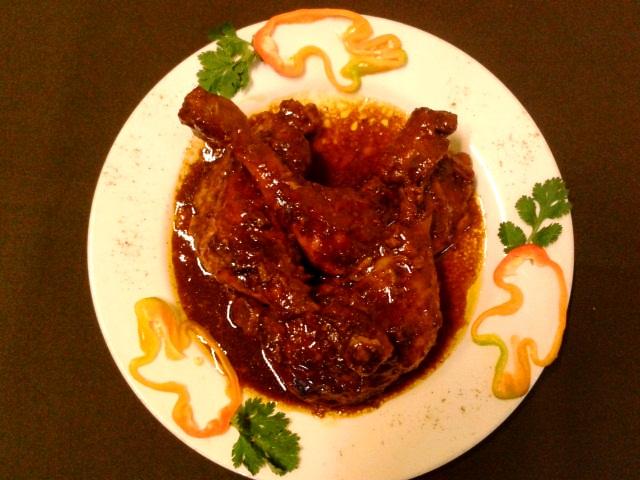 Taguarita gourmet arte culinario muslos de pollo en salsa for Muslos pollo en salsa