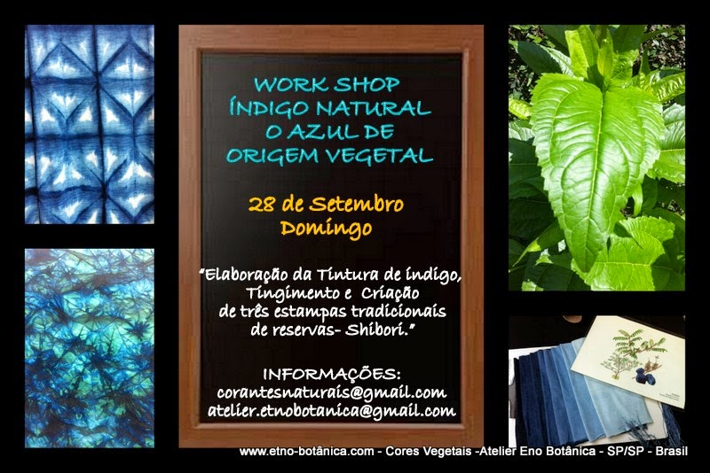 Work Shop Ìndigo Natural - O Azul de Origem Vegetal