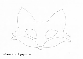 Pattern fox mask