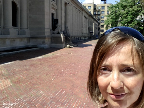 En la terraza del museo