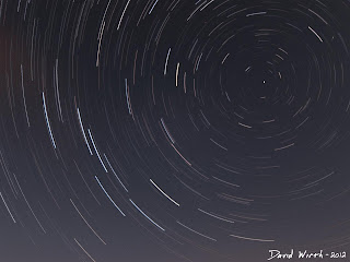 star in sky rotation, star trails around north star, night sky stars rotating