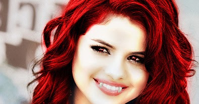 selena gomez with red hair