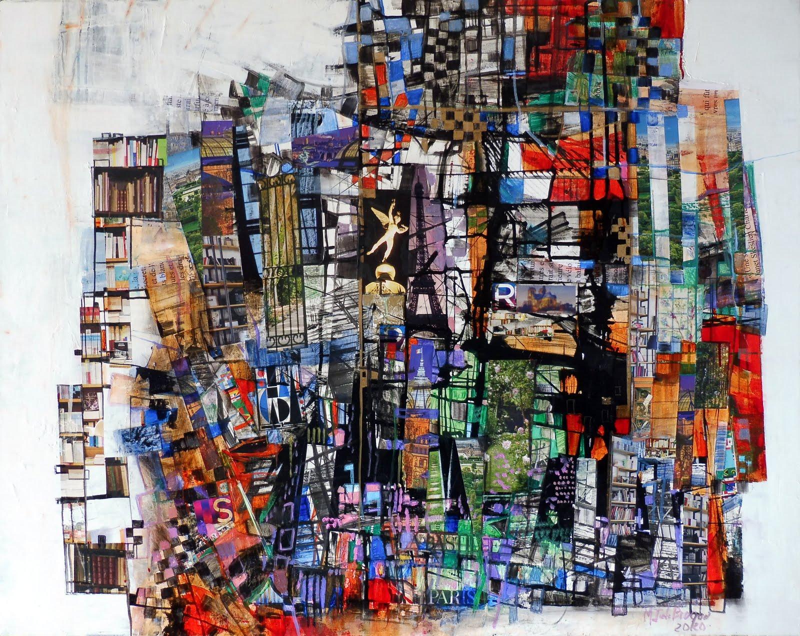 """""""J'adorais paris, une ville de secrets"""" 73 x 92 cm - 2020"""