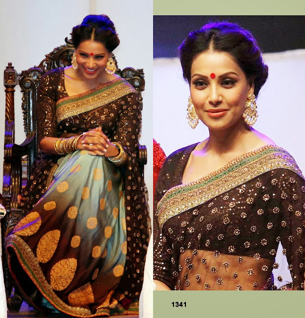 Bipshbasu Saree, Bollywood replica Saree,Bipasha Basu wear Sabyasachi Saree at Kolkata International Film Festival 2013